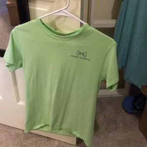 Green simply southern shirt